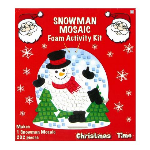 Snowman Mosaic Foam Activity Kit - Christmas Arts & Crafts